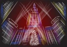 De Stad van Kerstmisnew york vector illustratie
