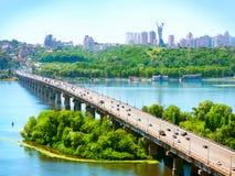 De Stad van Kiev - de hoofdstad van de Oekraïne Stock Afbeelding
