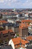 De stad van Kopenhagen van hierboven. Kopenhagen. Denemarken. Royalty-vrije Stock Foto