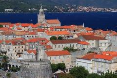 De stad van Korcula, Kroatië Stock Afbeelding