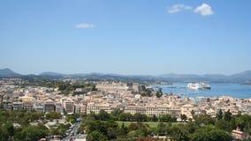 De Stad van Korfu. Stock Foto's