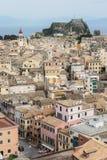De Stad van Korfu, Griekenland stock afbeeldingen