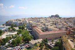 De Stad van Korfu, Griekenland Stock Fotografie