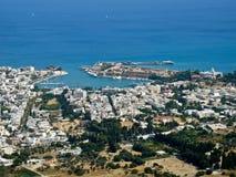 De stad van Kos, luchtmening stock foto's