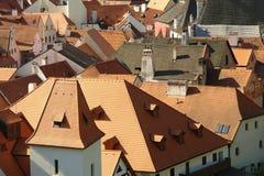 De stad van Krumlov van Cesky Stock Foto
