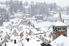 De stad van Kulmbach in Franconia, Duitsland Royalty-vrije Stock Fotografie