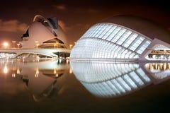 De stad van Kunsten en Wetenschappen Stock Foto