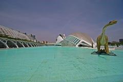 In de Stad van Kunsten en Wetenschappen, Valencia Stock Fotografie