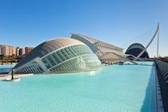 De stad van kunsten, oceanografisch en wetenschappen, Valencia Stock Foto's