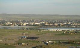 De stad van Kyzyl Toeva stock afbeeldingen