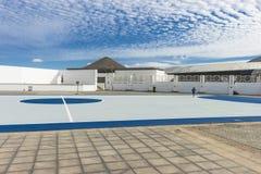 De stad van La Oliva in Fuertaventura royalty-vrije stock afbeeldingen