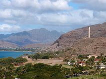 De stad van Lanikai, strand, en Vreedzame Oceaan Stock Fotografie