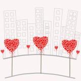 In de stad van liefde Stock Afbeelding
