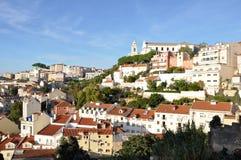 De stad van Lissabon - panorama Royalty-vrije Stock Fotografie