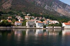 De stad van Litlle op de kust Royalty-vrije Stock Foto