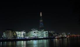 De Stad van Londen bij Nacht Royalty-vrije Stock Fotografie