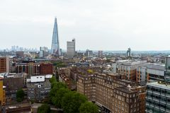 De stad van Londen, het Verenigd Koninkrijk, 24 Mei, 2018 Mening vanaf bovenkant stock foto