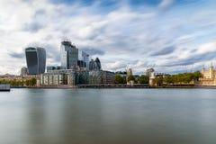 De Stad van Londen op een zonnige dag, het Verenigd Koninkrijk stock fotografie