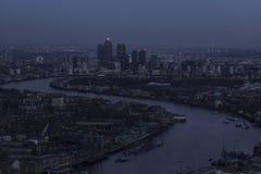 De stad van Londen scape. Stock Foto's