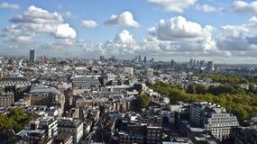 De stad van Londen van hierboven, Stock Foto's