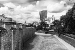 De Stad van Londen in Zwart-wit stock foto's