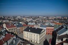 De Stad van Lublin streetview Stock Fotografie
