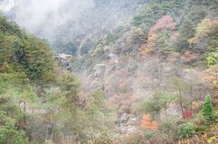 De Stad van Lushanguling in de Herfst Stock Foto
