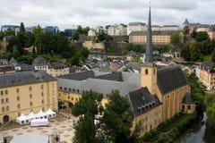 De stad van Luxemburg royalty-vrije stock foto's