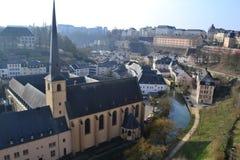 De Stad van Luxemburg Stock Afbeeldingen