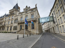 DE STAD VAN LUXEMBURG, LUXEMBURG - JULI 01, 2016: Groothertogelijk Paleis Royalty-vrije Stock Afbeeldingen