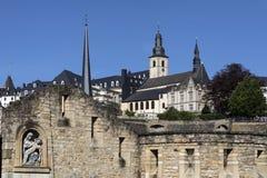 De Stad van Luxemburg - Ville de Luxembourg Royalty-vrije Stock Foto's
