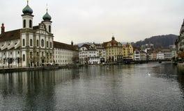 De stad van Luzerne in Zwitserland Royalty-vrije Stock Foto's