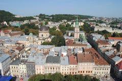 De stad van Lviv Stock Afbeelding