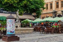 De stad van Lviv Stock Foto's