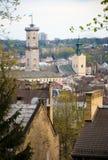 De stad van Lviv, de Oekraïne Stock Afbeeldingen