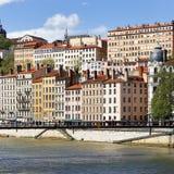De stad van Lyon stock afbeeldingen