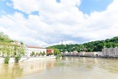De stad van Lyon Stock Foto