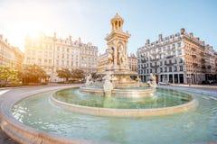 De stad van Lyon in Frankrijk stock afbeelding
