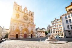 De stad van Lyon in Frankrijk royalty-vrije stock afbeelding