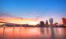 De stad van Macao Stock Afbeeldingen