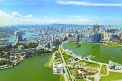 De stad van Macao bij dag Stock Afbeelding