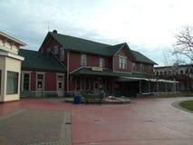 De Stad van Mackinaw van het spoorwegdepot Stock Afbeeldingen