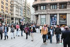 De stad van Madrid royalty-vrije stock foto's