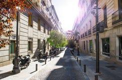 De stad van Madrid in november - schoten van Spanje royalty-vrije stock afbeeldingen