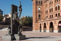 De stad van Madrid in november - schoten van Spanje stock afbeelding