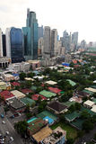 De stad van Makati Stock Afbeeldingen