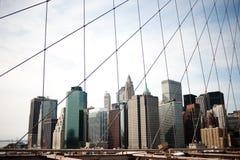 De Stad van Manhattan New York Stock Foto's