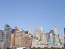 De Stad van Manhattan, New York Stock Afbeelding