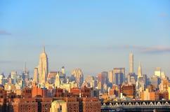 De Stad van Manhattan, New York Stock Foto