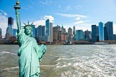 De Stad van Manhattan, New York. De V.S. Stock Afbeelding